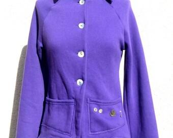Albatross jacket purple large collar