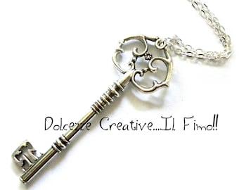 Love key - silver - kawaii - miniature - necklace