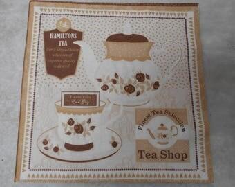 Paper themed Tea towel - size 33cm / 33cm