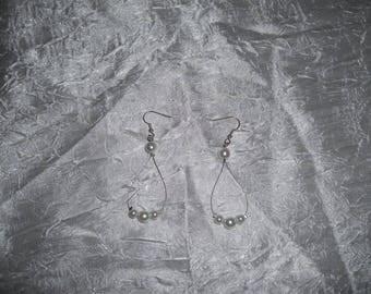 Bridal earrings pearl beads