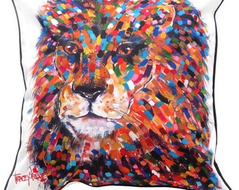 Lion Indoor/Outdoor Cushion Cover