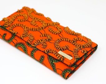Bejeweled African Print Wallet - I