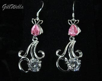 "Earrings ""arabesques summer pink Lotus Flower"""
