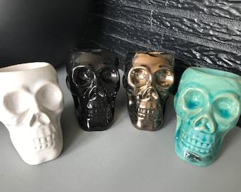 Burner ceramic skull