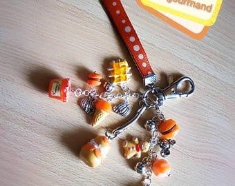 Key to gourmet bag in Orange