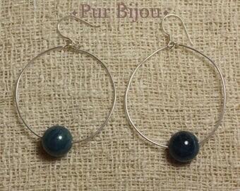 Earrings 925 Silver - Apatite 10 mm