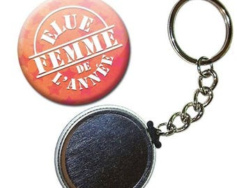 Key Badge 38 mm - one woman of the year love Couple gift