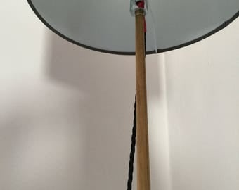 Snookered, an upcycled Snooker Cue floor lamp.