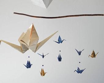 Suspension - Mobile origami paper cranes