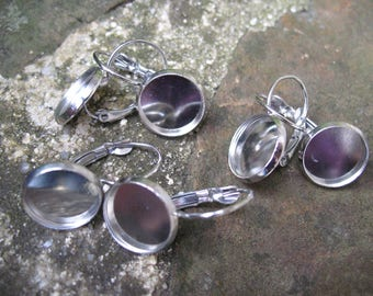 Supports earrings 12 mm cabochons
