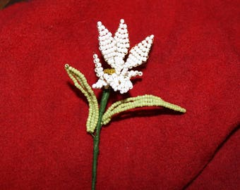 White Orchid seed beads