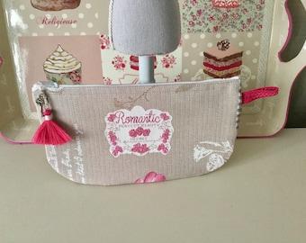 Romantic linen pouch