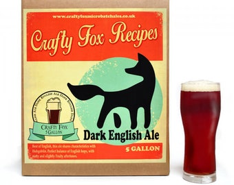 Crafty Fox 5 Gallon Beer Making Recipe Kit - Old Porter