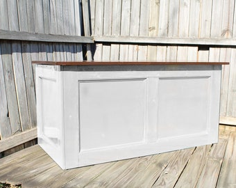 White, Large Hope Chest, Toy Chest, Trunk, Coffee Table, Entry, Wooden Chest