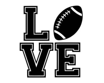 Football Love decal *chose your colors*