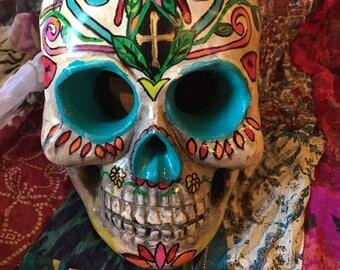 Original Day of the Dead , Dia De los Muertos Art , Sugar Skull