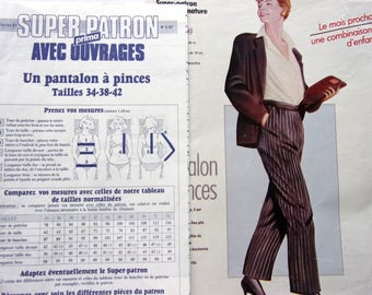 SEWING pattern PRIMA - 02/87 - pants to clips for women