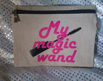 Magic wand makeup bag