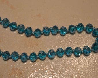 set of 10 turquoise faceted beads