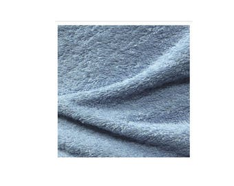 A CUT OF 1 METER OF BLUE TERRY CLOTH