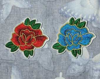A pair flower patch, iron on patch