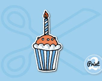 Yummy Cupcake SVG Cut Files for Scrapbooking | Birthday svg files | Layered SVG | Cuts cute svgs | Cupcake svg for cricut | Cupcake Vector