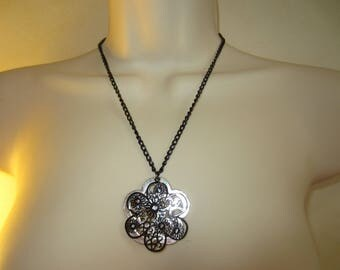 Chain with double pendant necklace