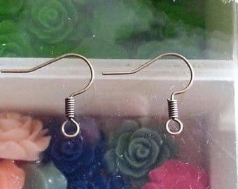 10 hooks earring Brass Earring Hooks, Nickle free, antique bronze, 17mm, hole: 1.5 mm. PIN: 0.7 mm