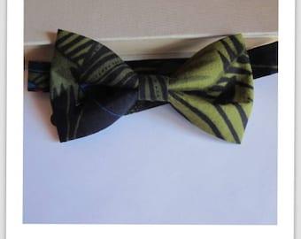 Bow tie black-green jungle