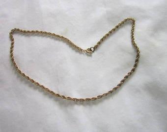 Vintage Triple Link Chain Necklace