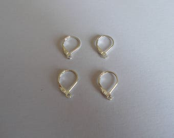 1 lot of 10 supports for 925 Sterling Silver earrings