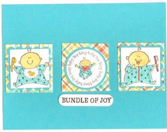 Bundle Of Joy Handmade Greeting Card