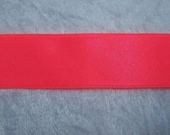 Satin ribbon, neon pink (S-280F)