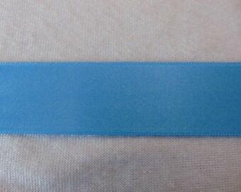 Satin ribbon, Blue Parrot, width 25 mm (S-322)