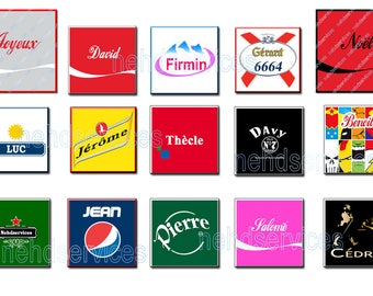Magnetic framed name fake brand