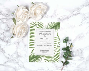 Botanical Wedding Invitation – Personalised – A5
