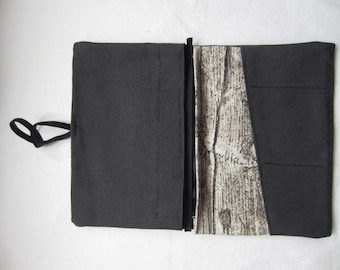 Tobacco pouch black wood look