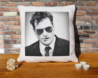 Joaquin Phoenix Pillow Cushion - 16x16in - White