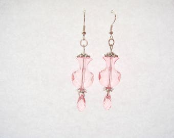Pink drop earrings pendant vase