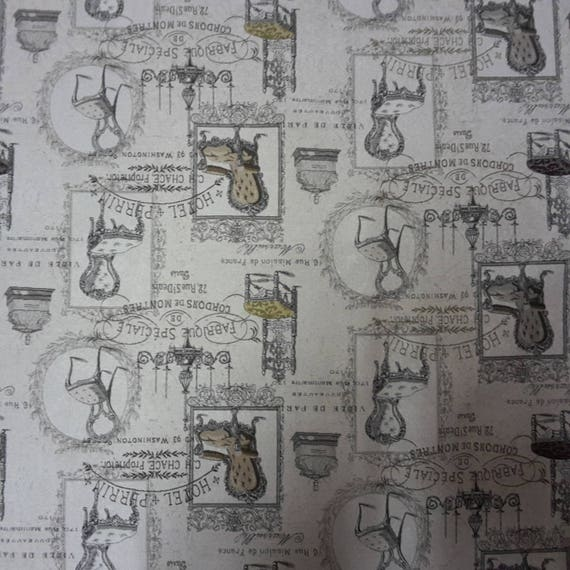 Coupon design vintage Chair fabric