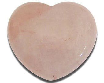 40mm rose quartz heart