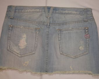 Denim Mini Skirt Miss Me Pre-Owned