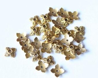 Golden cups, 7 * 5 mm, set of 50