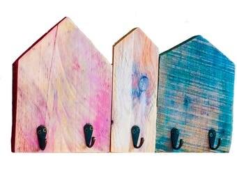 Porte clé murale_Porte clés Murale_Porte clefs murale_porte clés murale en bois_ Accroche clés murale_Porte clé