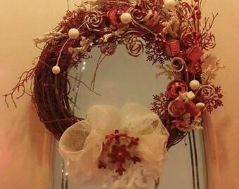 Candycane grapevine wreath