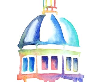 Southern Miss watercolor