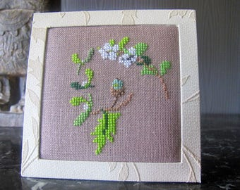 Plant picture(Board) cross-stitched
