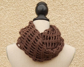 Double snood mixed Brown crochet