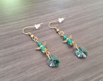 Angel heart green Earrings