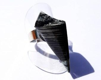 """Origami crane"" ring petal"